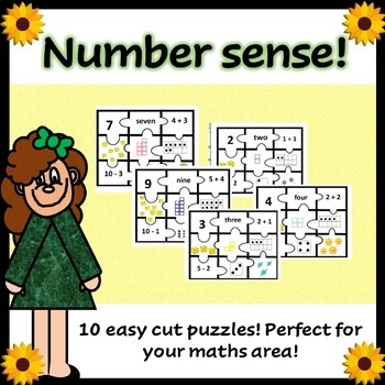 Number puzzle (number sense puzzle including basic addition and subtraction)