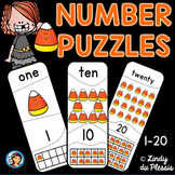 Candy Corn Halloween Number puzzles 1 to 20