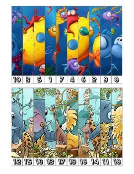 Number puzzles - Puzles numéricos