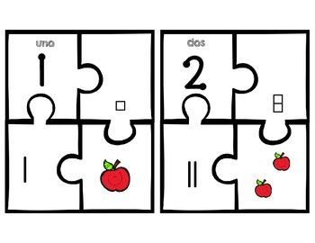 Number puzzles- Rompecabezas de numeros 1-10