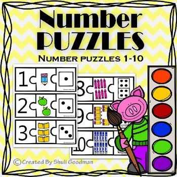 Number puzzles - number recognition and counting