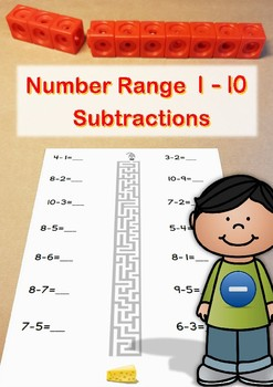 Number range to 10: Subtraktions