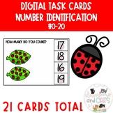 Number recognition 0-20 Boom cards digital task cards