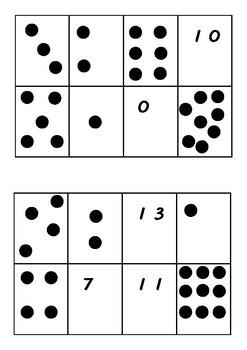 Number recognition and subitising bingo