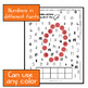 Number recognition with daubers (Find the hidden picture for preschoolers)