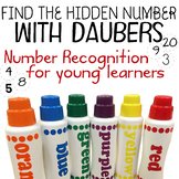 Number recognition with daubers (Find the hidden picture f
