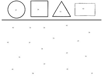 Number recognition with shapes