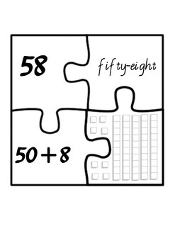 Number representation jigsaw puzzles
