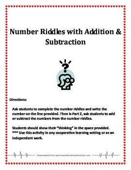 Number riddles with Addition and Subtraction