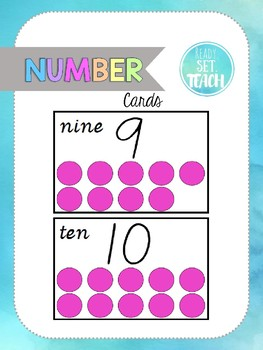 Number's to 10 flashcards