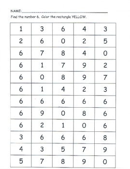 Number sense 0-9 puzzles bingo dobbers stamp ESL recognition COMMON CORE