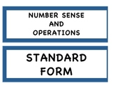 Number sense and operations word wall