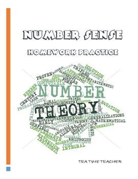 Number sense homework review