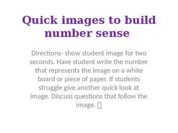 Number sense- quick images