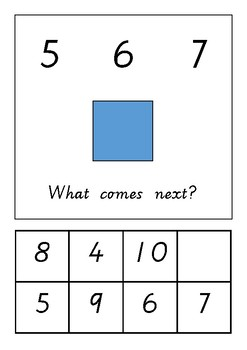 Number sequencing to 10 adapted book