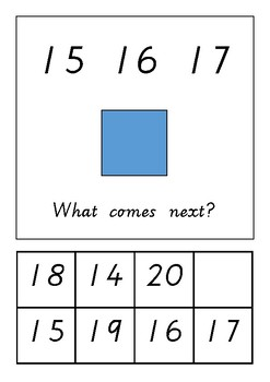Number sequencing to 20 adapted book
