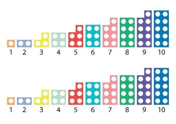 Number shape line 1-10