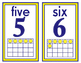 Number signs 1-20 - Yellow White Blue