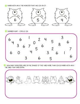 Number Six - Worksheets