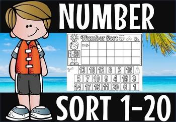 Number sort 1-20
