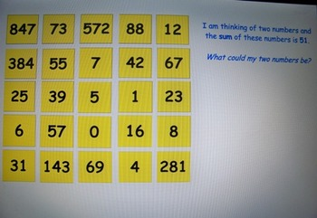 Number sort lesson/activity for Smartboard