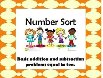 Number sort up to ten