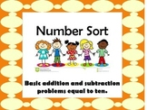 Number sort up to ten