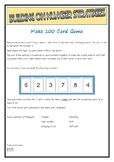 Number strategies game MAKE 100