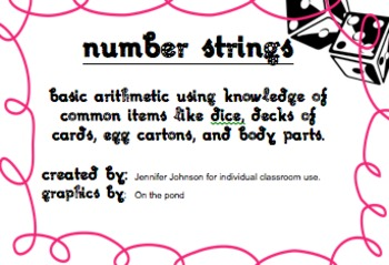 Number strings from common items