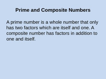 Number study - Whole numbers
