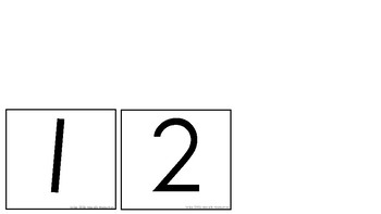 Number symbols and names flash cards