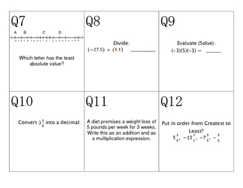 Number systems review game