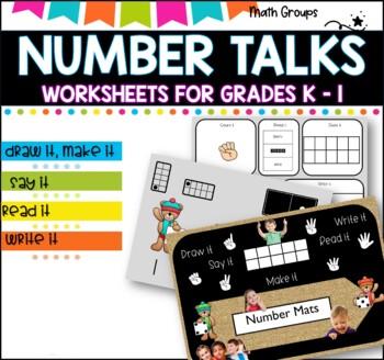 Number talks and worksheets 1-20