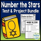 Number the Stars Bundle: Test/Quiz, Book Report Project, Writing & Word Search