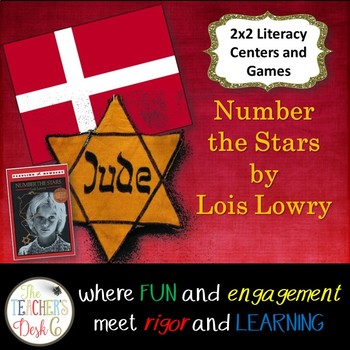 Number the Stars 2x2 ELA Centers/Games