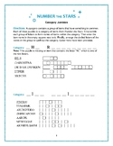 Number the Stars: 5 Category Jumbles Word Puzzles—Challenging