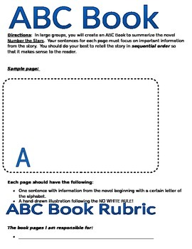 Number the Stars ABC summary Project