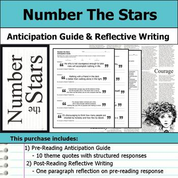 Number the Stars - Anticipation Guide & Reflection