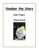 Number the Stars Book Project Choice Board
