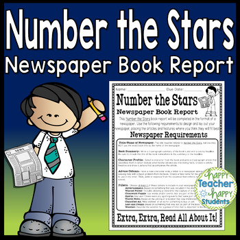 Number the Stars Project: Create a Newspaper Book Report Activity