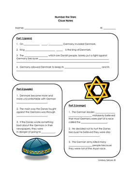 Number the Stars: Pre-Reading Cloze Activity