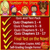 Number the Stars Quiz and Test Bundle Common Core Aligned