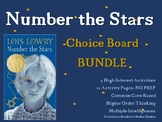 Number the Stars CHOICE BOARD BUNDLE No Prep 12 Activity P