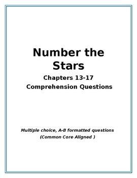 Number the Stars: Chapter 13-15 Comprehension Questions
