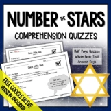 Number the Stars Comprehension Questions (Number the Stars