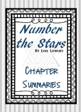 Number the Stars: Chapter Summaries (with same page vocab and context)