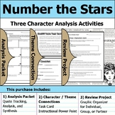 Number the Stars - Character Analysis Packet, Theme Connections, & Project