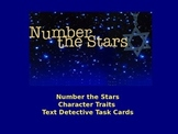 Number the Stars Character Traits Text Detective Task Cards
