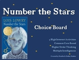 Number the Stars Choice Board Project Novel Activities Ass