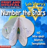 NUMBER THE STARS Novel Study: Circlebook Book Report Projects —40 Templates